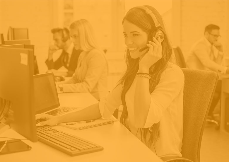 Women at a Support Center   Two Way Radios for Security, Safety and Business - Fast Radios, Inc.