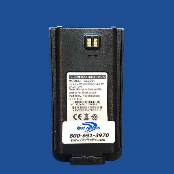 BL2001 2000 mAh Li-Ion Battery Label for Hytera | Two Way Radios for Security, Safety and Business - Fast Radios, Inc.