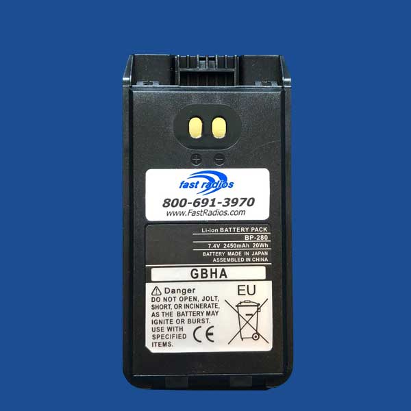 BP280 2280 mAh Li-Ion Battery Label for ICOM | Two Way Radios for Security, Safety and Business - Fast Radios, Inc.