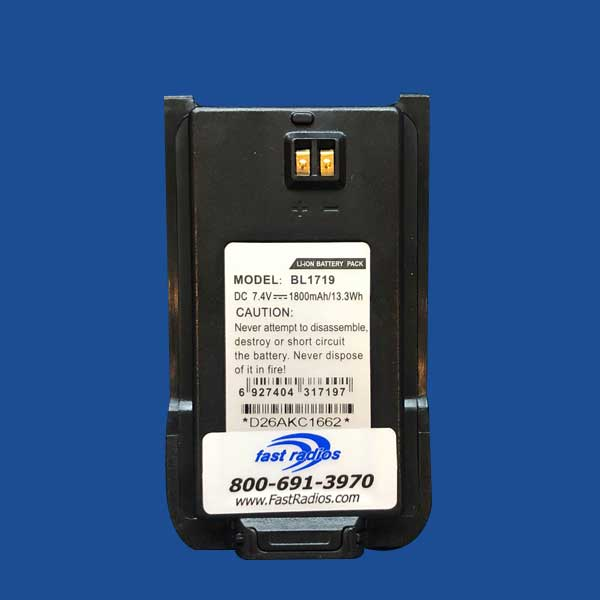 BL1719 1800 mAh Li-Ion Battery Label for Hytera | Two Way Radios for Security, Safety and Business - Fast Radios, Inc.
