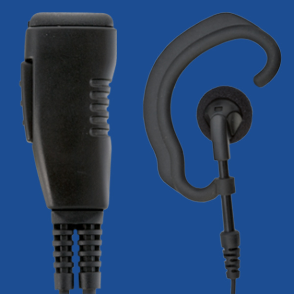 Hytera Corded Around the Ear Lapel Headset Accessory | Two Way Radios for Security, Safety and Business - Fast Radios, Inc.