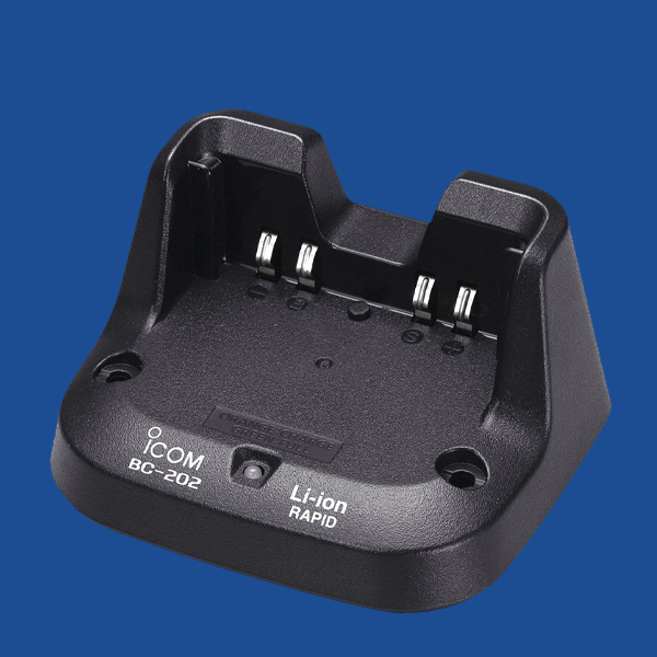 iCOM Single Charger - BC-202   Two Way Radios for Security, Safety and Business - Fast Radios, Inc.